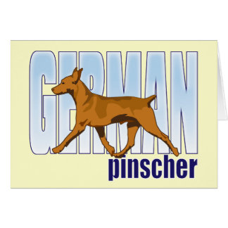 German Pinscher red moving Greeting Card