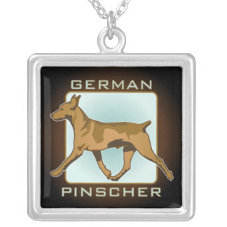 German Pinscher sterling silver necklace
