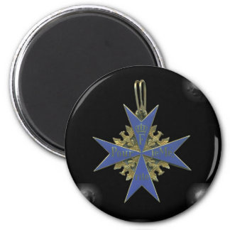 German Pour Le Merit 6 Cm Round Magnet