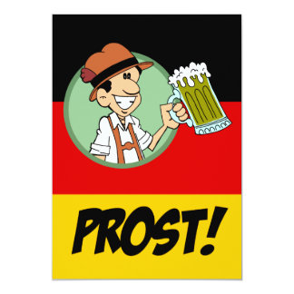German Prost Oktoberfest German Party Invitation