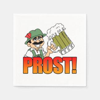 German Prost Party Napkins Cartoon Bier Disposable Serviettes