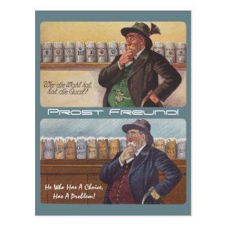 German Proverb Oktoberfest Toast Prost Postcard