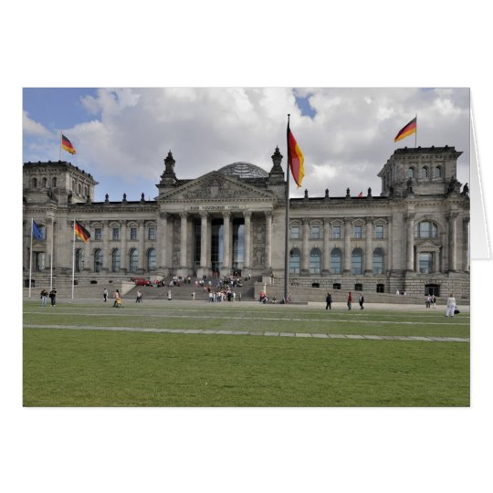 German Reichstag building Card