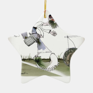 german right wing footballer christmas ornament