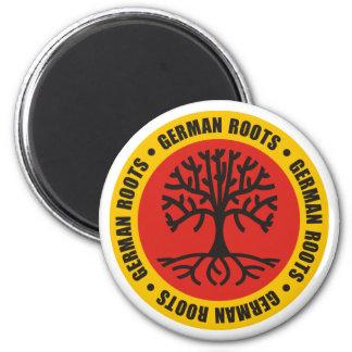 German Roots 6 Cm Round Magnet