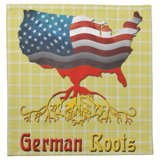 German Roots American Map Napkins