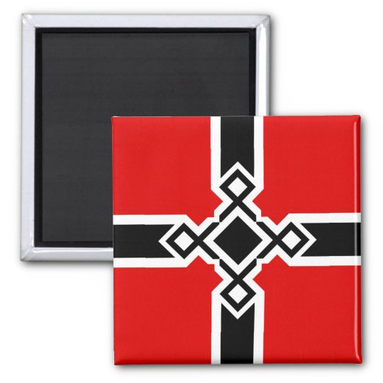 German Rune Cross Badge Magnet