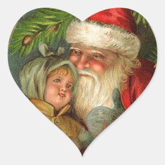 German Santa Christmas Stickers