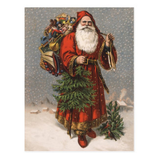 German Santa Postcard