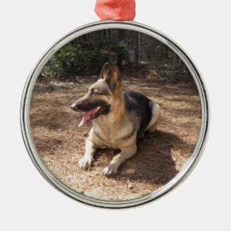 german shepard 2 christmas ornament