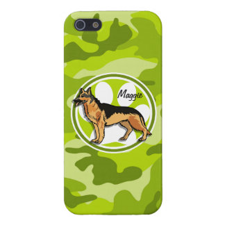 German Shepard bright green camo camouflage iPhone 5 Case