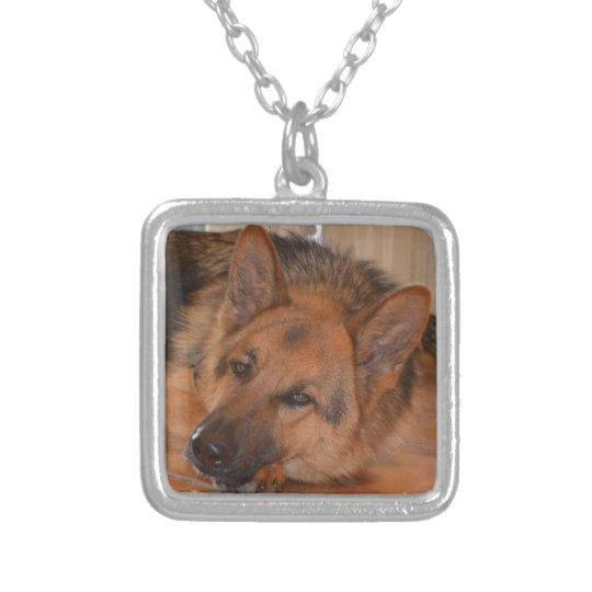 German Shepard ~ Design Stella Silver Plated Necklace