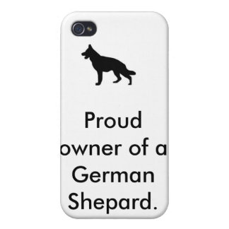 German Shepard, Proud owner of a German Shepard. Cover For iPhone 4
