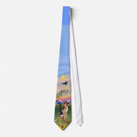 German Shepherd 1 in Mountain Country Tie
