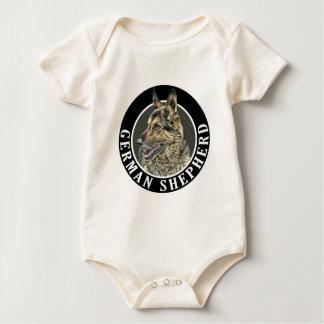 German Shepherd (Alsatian) 002 Baby Bodysuit