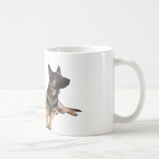 german shepherd and golden retriever coffee mug