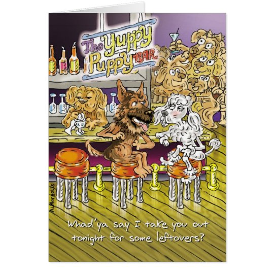 German Shepherd and Poodle Funny Anniversary Card