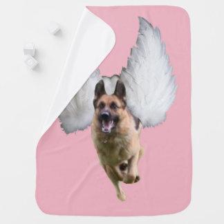 German Shepherd Angel Flying Baby Blanket