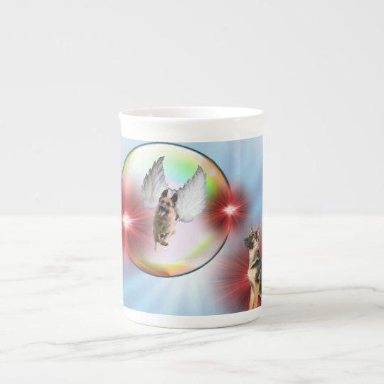 German Shepherd Angel Flying Tea Cup