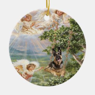 German Shepherd Angel Ornament