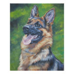 German Shepherd Art Print by L.A. Shepard