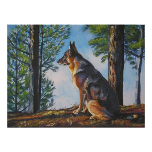 german shepherd art print by L.A.Shepard