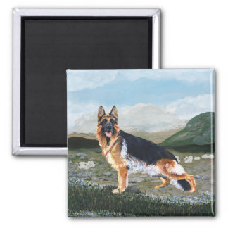 German Shepherd at Work Magnet