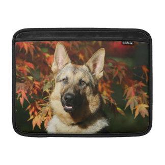 German Shepherd Autumn Leaves MacBook Sleeve