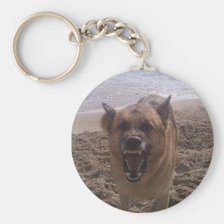 German Shepherd Basic Round Button Key Ring
