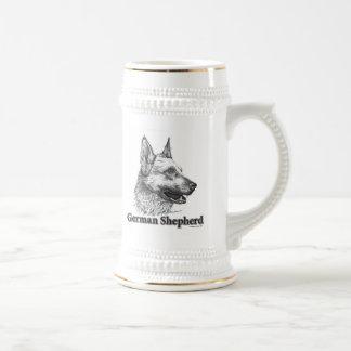 German Shepherd Beer Stein