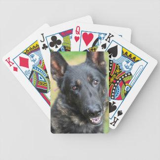 German Shepherd Bicycle Playing Cards