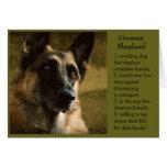 German Shepherd Birthday Card for Dad
