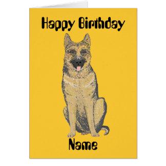 German Shepherd Birthday Cards customize