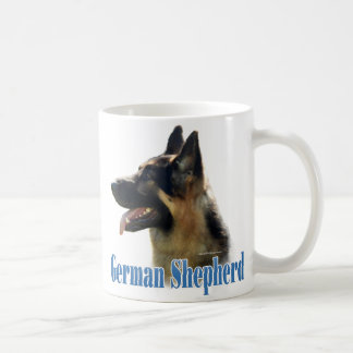 German Shepherd (black/tan) Name Coffee Mug