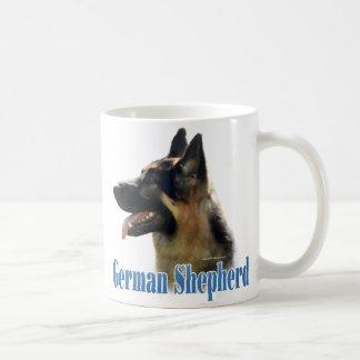 German Shepherd (black/tan) Name Coffee Mugs