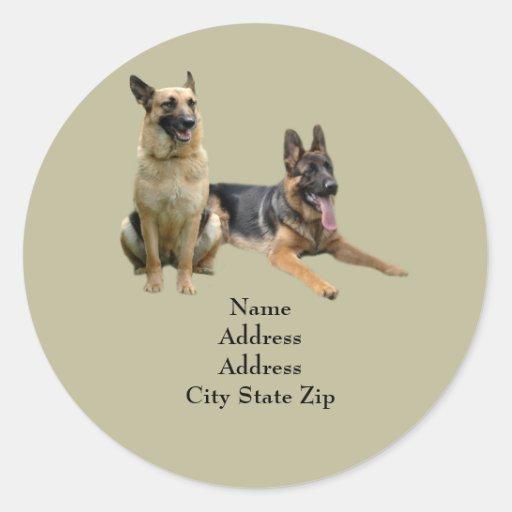 German Shepherd Buddies Address Label Sticker