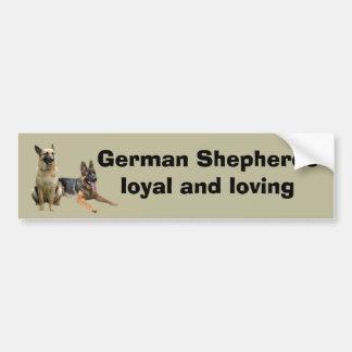 German Shepherd Buddies Bumper Sticker Car Bumper Sticker