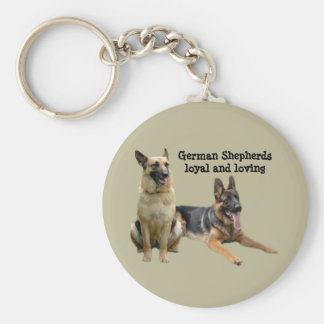 German Shepherd Buddies Keychain