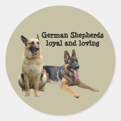 German Shepherd Buddies Sticker