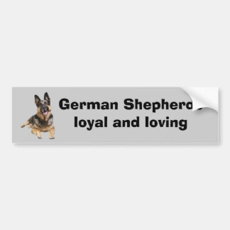German Shepherd Bumper Sticker Car Bumper Sticker