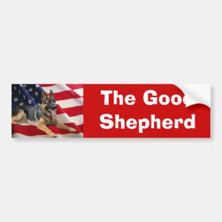 German Shepherd Bumper Sticker America-1