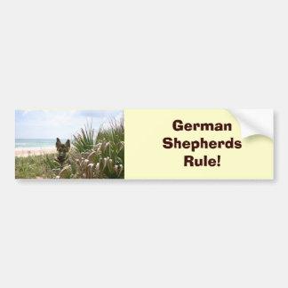 German Shepherd Bumper Sticker Beachgrass