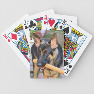 German Shepherd by Shirley Taylor Bicycle Playing Cards