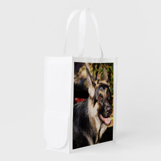 German Shepherd by Shirley Taylor Reusable Grocery Bag