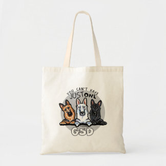 German Shepherd Cant Have Just One Budget Tote Bag