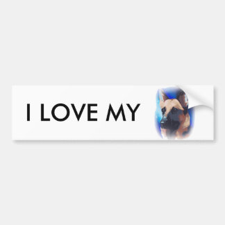 German Shepherd car bumper sticker