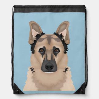 german shepherd cartoon backpack