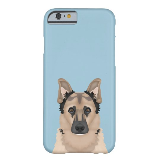 German Shepherd Cartoon Barely There iPhone 6 Case