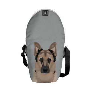 german shepherd cartoon commuter bag