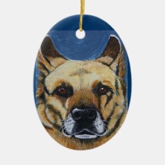 German Shepherd Ceramic Oval Decoration